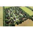 Natuurlijke, duurzame woonwijk van circulair materiaal