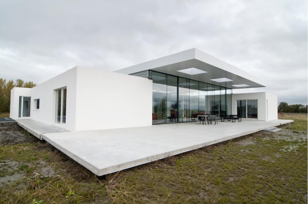 Villa battenoord energieneutraal dankzij superisolerende for Energieneutraal bouwen